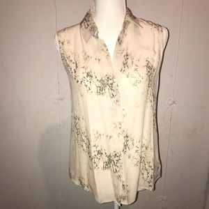 Theory floral blouse